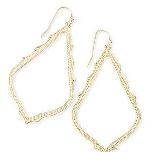 Kendra Scott Sophee Drop Earrings in Gold - NWOT